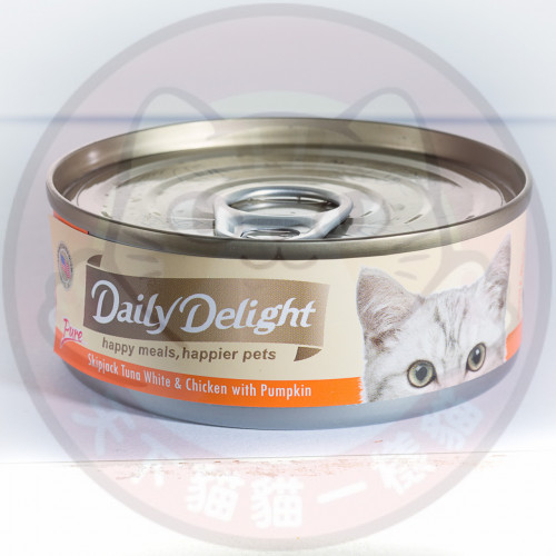Daily Delight Pure Skipjack Tuna White & Chicken with Pumpkin 80g 低鎂配方白鰹吞拿魚+雞肉+南瓜