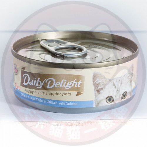 Daily Delight Pure Skipjack Tuna White & Chicken with Salmon 80g 低鎂配方白鰹吞拿魚+雞肉+三文魚