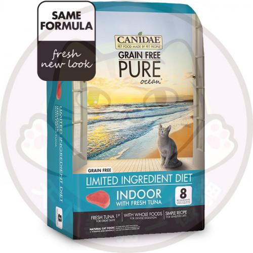 Canidae PURE Ocean Indoor 10磅 無穀物吞拿魚配方貓糧 送Canidae主食罐頭2 罐味道隨機,價值$30